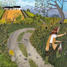 'Picking Blackberries' By Painter Valeriane Leblond. Blank Art Cards By Green Pebble. www.greenpebble.co.uk