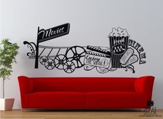 Wall Decals Movie Montage - Vinyl Text Words Stickers Home Theater on Etsy, $85.00