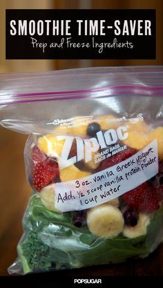 This Morning Time-Saver Will Help You Make Smoothies Even Faster (smoothie ideas)