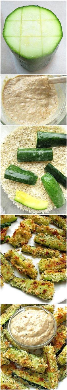 Baked Zucchini Sticks — green and gold yummies!