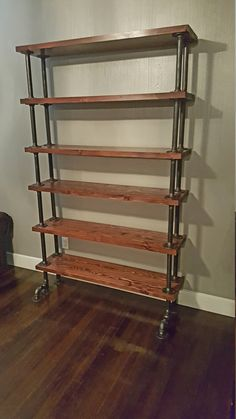 Industrial Pipe Shelves High Rise Edition by DSKIndustrial on Etsy