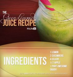 The Green Lemonade Juice Recipe