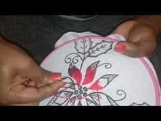 Hand embroidery flower with twisted chain and straight stitch - YouTube