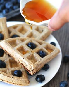 These Easy Vegan Gluten Free Waffles will become a new family favourite after you make them the first time.