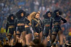 SANTA CLARA, CALIF. 2/7/2016 At Beyoncé's performance during the Super Bowl halftime show, her dancers wore outfits reminiscent of the Black Panther movement. Robert Beck/Sports Illustrated, via Getty Images