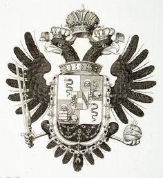 Wappen Kupferstich Tyroff Lombardo-Venetien