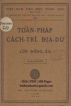 Toán Pháp, Cách Trí, Địa Dư Lớp Đồng Ấu (NXB Nha Học Chính 1926) - Trần Trọng Kim, 108 Trang | Sách Việt Nam Personalized Items