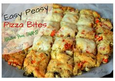 Easy Peasy Pizza Bites for a Trim and Healthy Lifestyle {Gluten Free, THM~S}