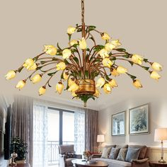 438.00$  Watch now - http://alilat.worldwells.pw/go.php?t=32788050360 - American Chandelier Art rural countryside retro European style hall hall dining room luxury villa living room Chandelier