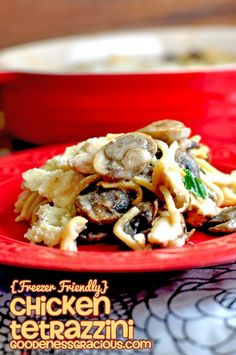 Chicken Tetrazzini #FreezerFriendly #Casserole #FreezerCooking