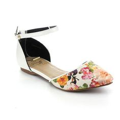b76760ab5bd Shoes · BETANI BETANI AGUSTINA-6 Women Casual Ankle Strap Pointy Toe Floral  D orsay Flat