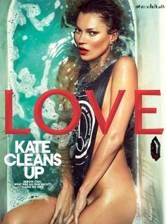 Kate Moss Love magazine Spring 2013 bath cover