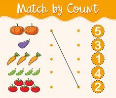 Numbers Kindergarten, Numbers Preschool, Kindergarten Math Worksheets, Math Numbers, Learning Numbers, Math Activities, Preschool Activities, Body Preschool, Algebra Worksheets