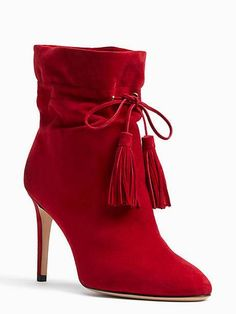 Kate Spade Red Boots with Laces High Heel Boots, Heeled Boots, Bootie Boots, High Heels, Red Shoe Boots, Stylish Boots, Sexy Boots, Pretty Shoes, Beautiful Shoes