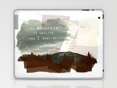 Muir: Mountain Laptop & iPad Skin by Leah Flores - $25.00