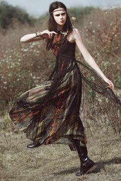 Sleeveless Fringed Boho Maxi Dress