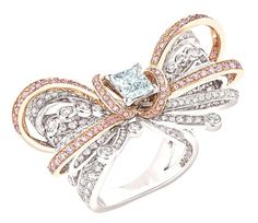Chanel Couture Ring from the 1932 collection inspired by Gabrielle (Coco) Chanel's original designs for diamond jewels.