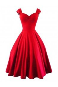 Red Sweetheart Bubble Sleeveless Dress