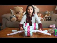 How to make a Tricycle Diaper Cake - This is so cute!