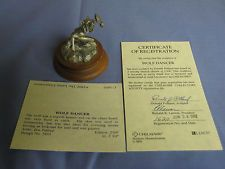 1991 Chilmark WOLF DANCER by Don Polland, Pewter Sculpture, Certificate COA