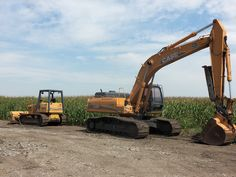 Case construction equipment.CX290 hydraulic excavator on  right.1150G LT bulldozer on left.Took this on 600S west of auction yard