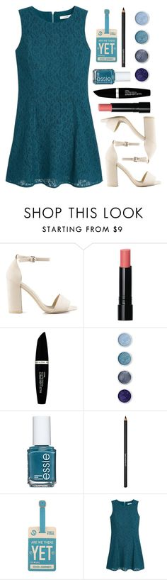 """""""Lady Lagoon"""" by spellrox ❤ liked on Polyvore featuring Nly Shoes, Bobbi Brown Cosmetics, Max Factor, Terre Mère, Essie, Lancôme, Forever 21 and MANGO"""