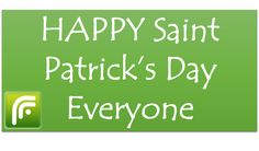 FeedsFloor is going green for Saint Patrick's Day - Have a nice day!  #b2b #saintpatricksday #green #Ireland