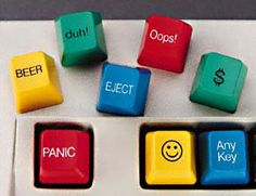 Add these key covers to your office computer keyboard for some laughs with a side of confusion when you forget what key you covered with that smiley. Available for $19.99.
