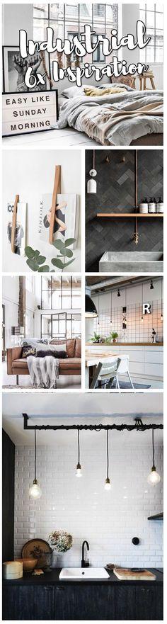 Inspiratie voor een industrieel interieur + 3x DIY tips! #industrieel #woonideeën #diyhomedecor #wooninspiratie