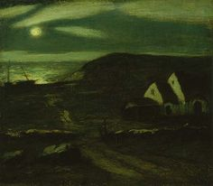 """Fisherman's Hut,"" Albert Pinkham Ryder, oil on canvas, 12 1/4 x 14"", The Phillips Collection."