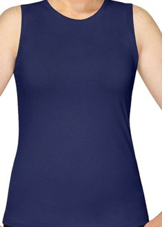 1383cab14 Kosher Casual Navy Modest Sleeveless Full Shouldered Layering Tank Top Shell  • Full shouldered tank top