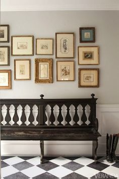 Halcyon Style: July 2013 gilded gold gallery wall