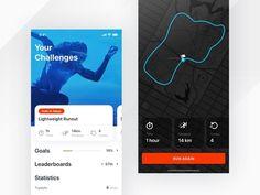 Fitness app - Challenges
