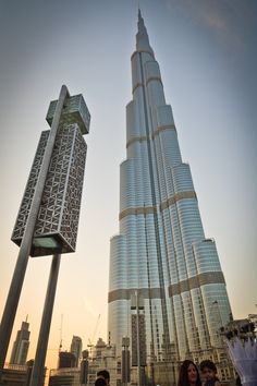 The Burj Khalifa: The world's tallest building towers over Dubai.