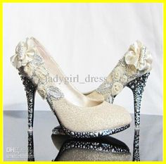 Wholesale Wedding Shoes - Buy Hot Promotion Heels Beaded Gold Silver Prom Evening Party Ladies Bridal Wedding Shose Size 34--39., $49.72 | D...