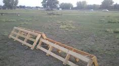 horse jumps made from pallets!