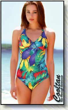 4efd6fb93adbe Daiquir One Piece Swim Suit - revolutionary fabric lets you tan right  through. No more