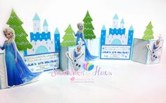 Swatches & Hues : Handmade with TLC: Frozen themed gate fold invitation for a 5th birth...