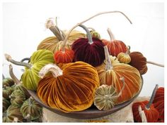 I cannot forget to make velvet pumpkins!