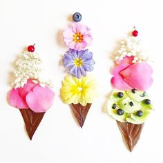 FLORAL CONE !!  #summertime #flowers