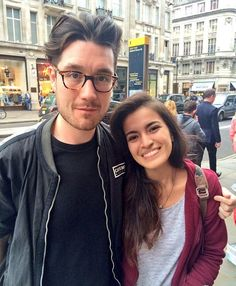 Dan with wild hair and glasses, want to be that girl...