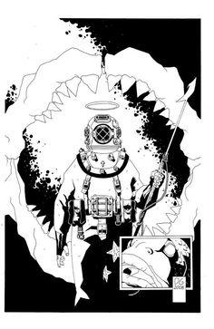 Holy Diver comic by Joe DellaGatta.