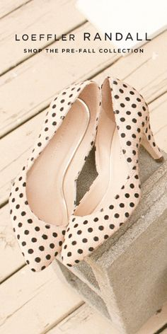 Polkadot heels, love it !