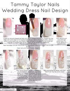 Tammy Taylor Nails Wedding Dress Nail Design