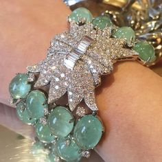 A wintry fresh new color #emerald #doubleclip #bracelet