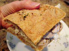 GF sandwich bread (bake 350 for about 15 minutes) - 3 egg whites, 1 T almond butter, 1/4 t baking soda, 1/2 t lemon juice, 1/4 t garlic powder, 1/4 t basil