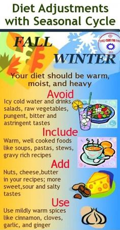 Fall and winter diet changes