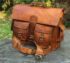 New Leather Vintage Messenger Shoulder Men Satchel S School Briefcase Bag D   fashion  clothing 401004ff73ffb