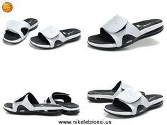 487332 100 White Black Nike Air Lebron Slide For Sale Kevin Durant  Basketball Shoes 22aa5a7042d