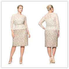 2015 Plus Size Prom Party Dresses with Long Sleeve Short Dresses ...